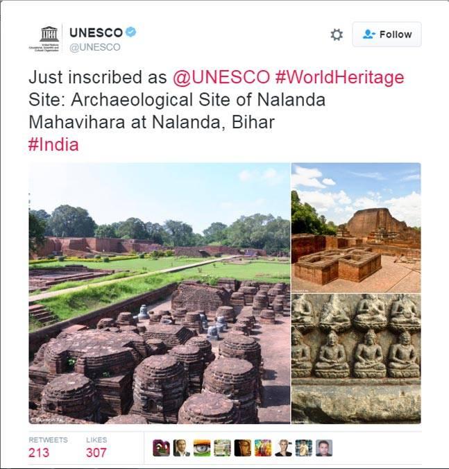 Nalanda University gets Heritage status by UNESCO