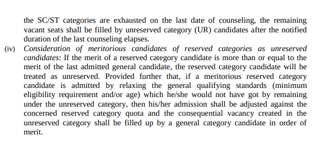Reserved Category Documents