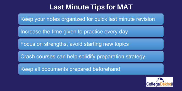 Last Minute Tips for MAT