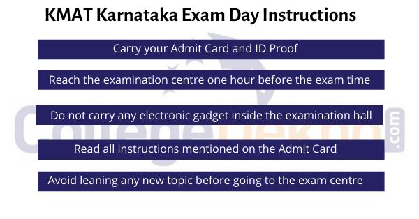 KMAT Karnataka Exam Day Instructions