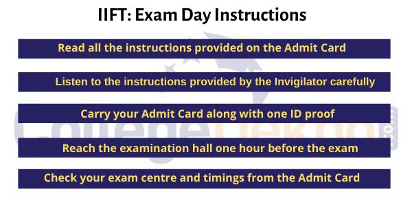 IIFT Exam Day Tips