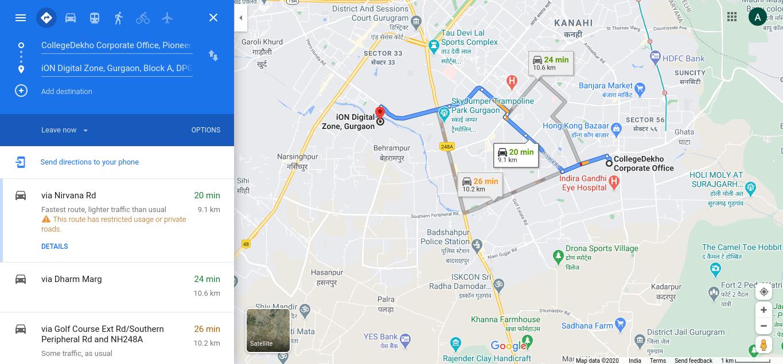 CAT Google Maps Link Directions