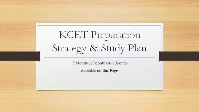 KCET Preparation Strategy & Study Plan