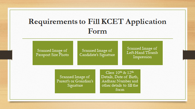 Requirements to Fill KCET Application Form
