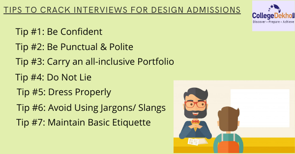 Tips for cracking design interviews for admission