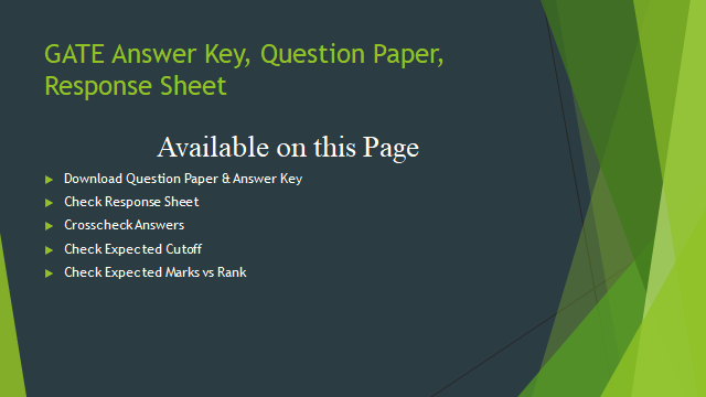 GATE Answer Key