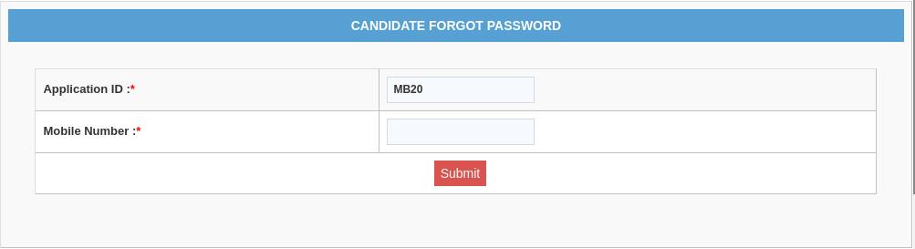 MAH MBA/ MMS CET 2021 Password Reset Step 5